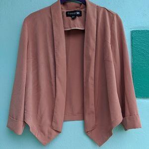 Forever 21 Blush cropped blazer